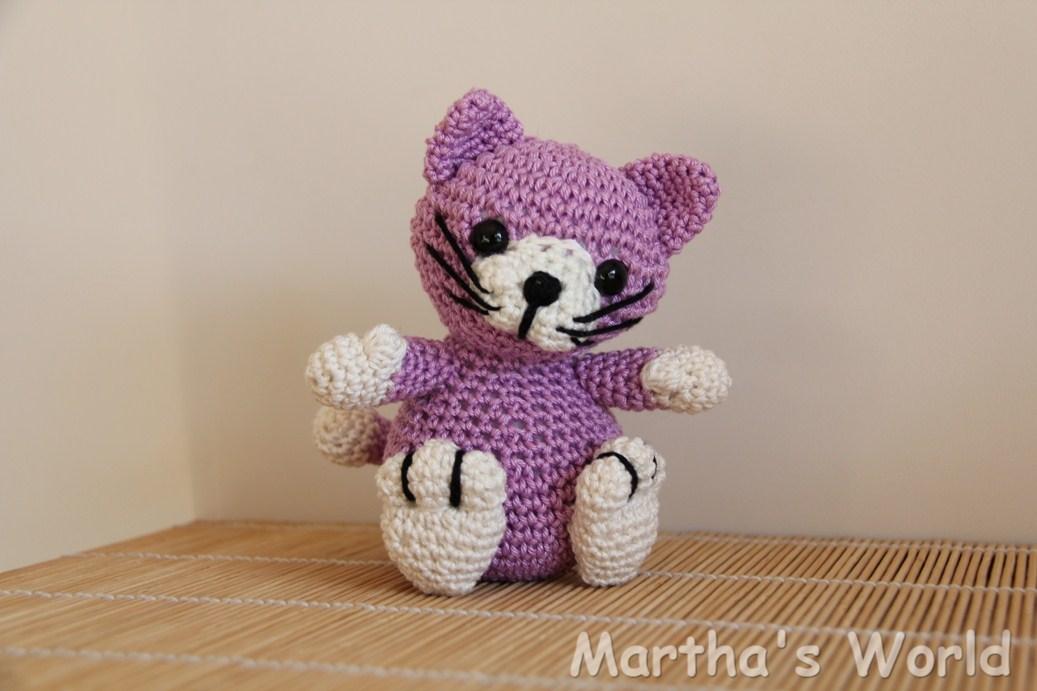 Outstanding Purple Kitty Crochet Patterns Frieze - Blanket Knitting ...