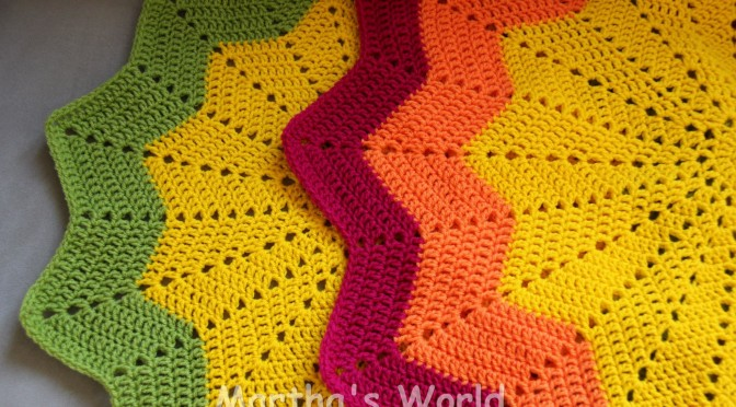 My First Round Ripple  (Or How I crocheted Sunshine)