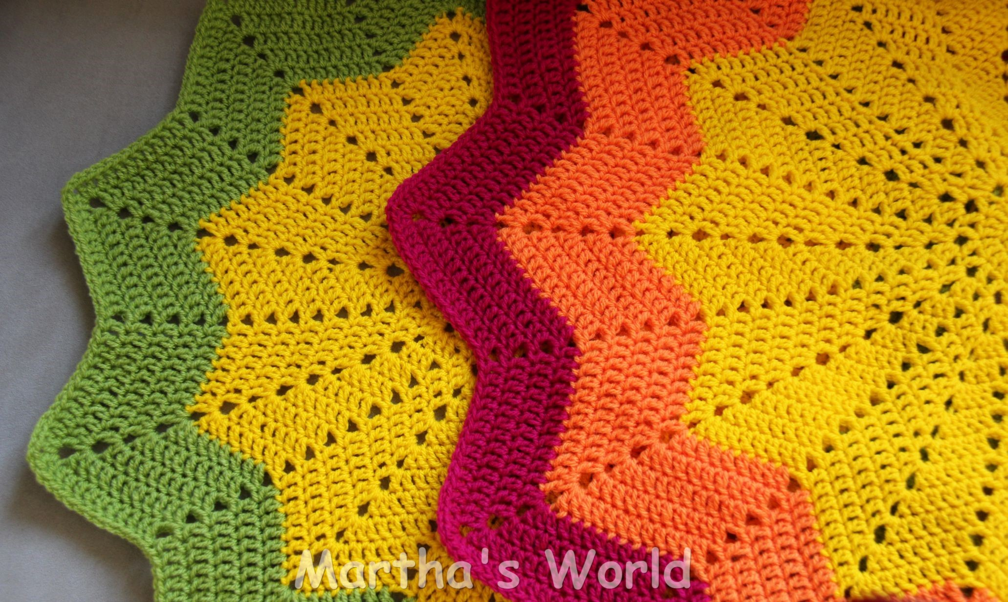 Crochet Pattern Round Ripple Afghan : Round Ripple Martha s World