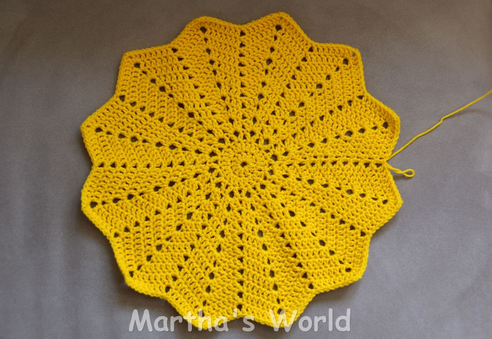 My first round ripple or how i crocheted sunshine marthas world nice and flat round ripple crocheted sunshine ccuart Images