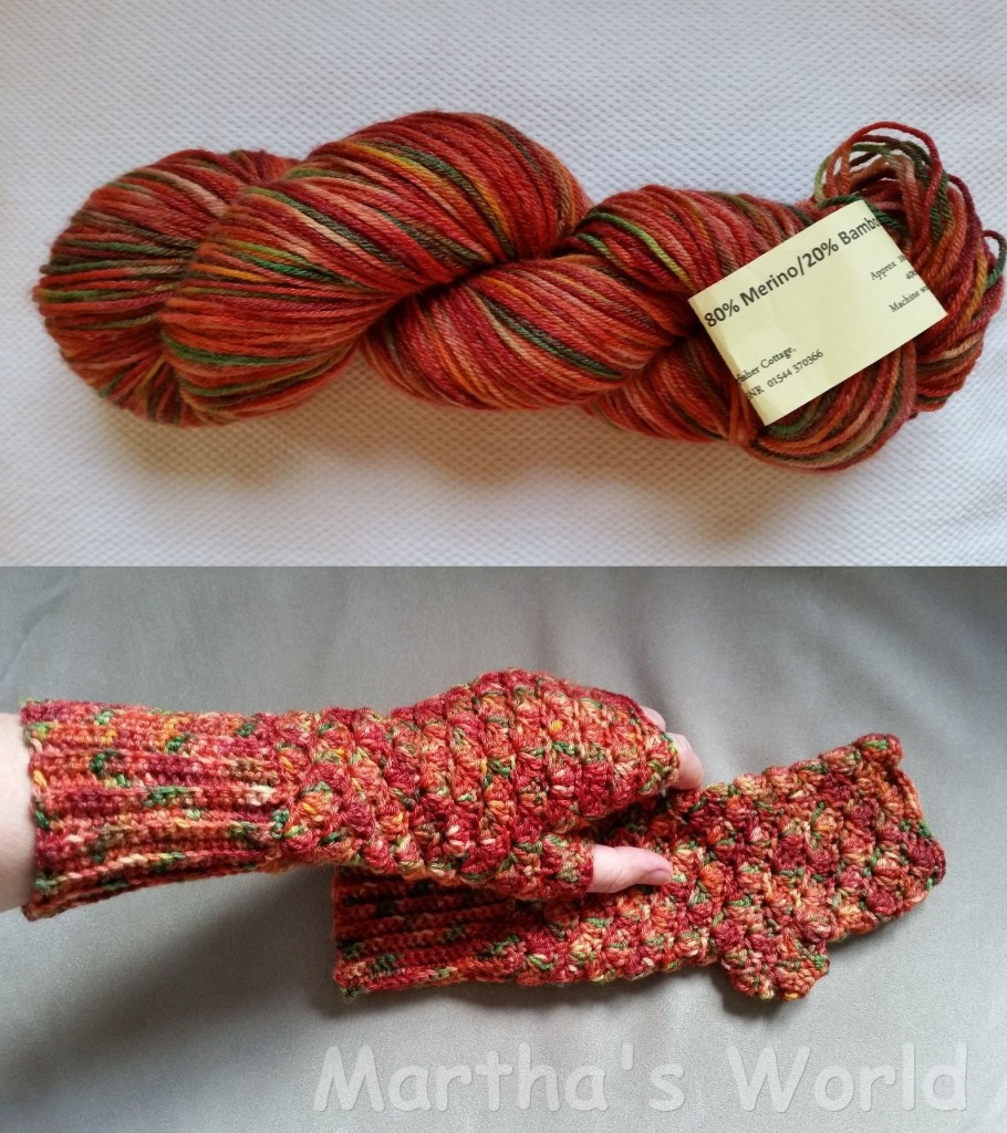 I made a pair of mittens with the 'original' skein I bought in Hay-on-Wye