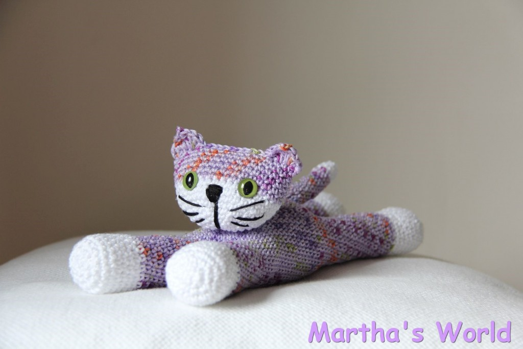 Lavender Rainbow kitty, made for Deb's fundraiser @Martha's World