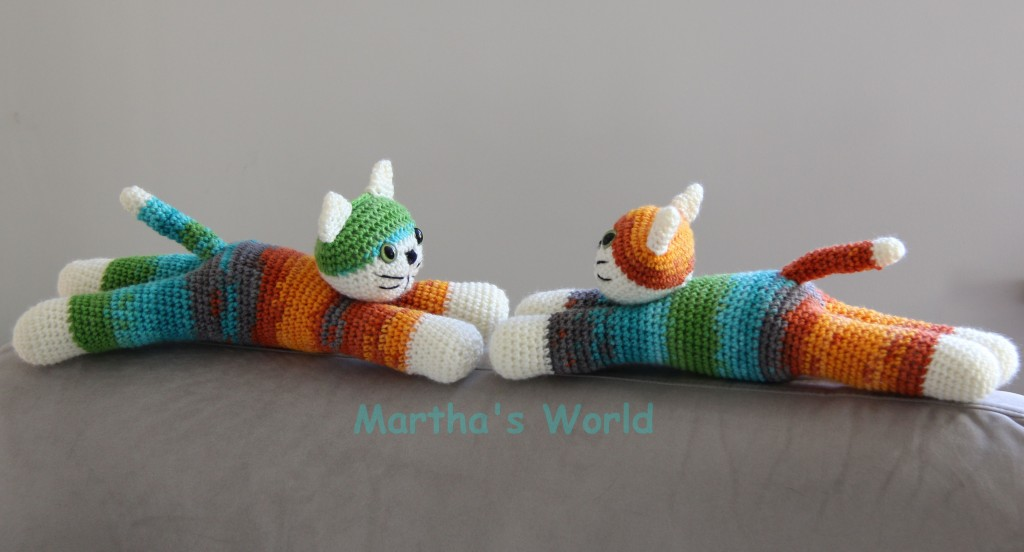 Two rainbow kitties :) @Martha's World